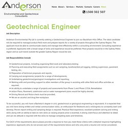 Geotechnical Engineer – Anderson Environmental