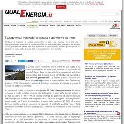 Geotermia: frizzante in Europa e dormiente in Italia