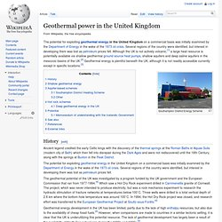 Geothermal power in the United Kingdom