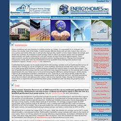 Geothermal Heat Pumps: Cost and Installation