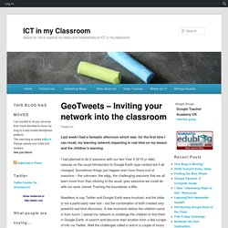 GeoTweets – Inviting your network into the classroom