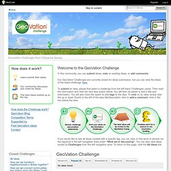 GeoVation Challenge - by IdeaScale | Popular