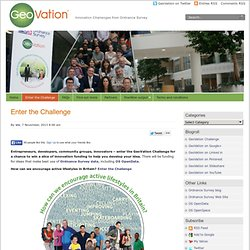 GeoVation » Enter the Challenge