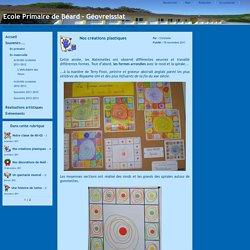 Ecole Primaire de Béard - Géovreissiat - Nos créations plastiques