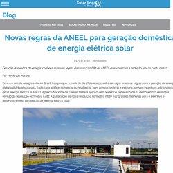 Novas regras da ANEEL para geração doméstica de energia elétrica solar