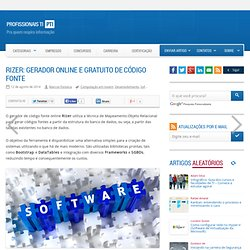 Rizer: gerador online e gratuito de código fonte