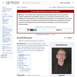 Gérald Bronner