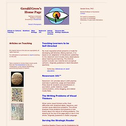 Gerald Grow's Home Page