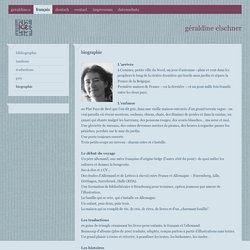 Le site de Géraldine Elschner