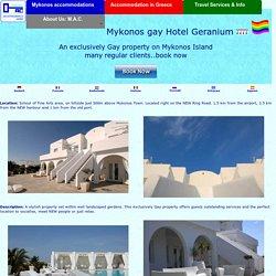 Geranium gay mykonos hotel, famous gay geranium hotel