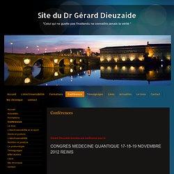 Site du Dr Gérard Dieuzaide: Conférences