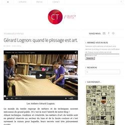 Gérard Lognon: quand le plissage est art.