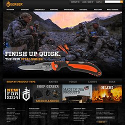 The Gerber Store - outdoor hunting and fishing knives and tools