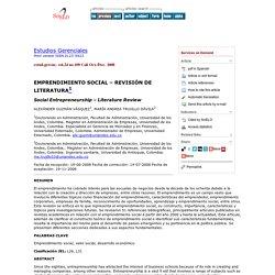 Estudios Gerenciales - Social Entrepreneurship - Literature Review
