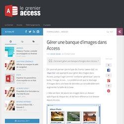 Gérer une banque d'images dans Access