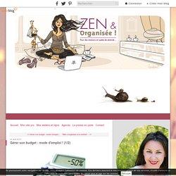 Gérer son budget : mode d'emploi ! (1/2) - Zen & Organisée Le blog !