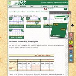 Gérer la formation des salariés avec Excel