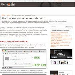 Gérer les notifications des sites web sous Firefox