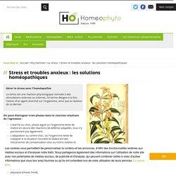 Gérer le stress avec l'homéopathie