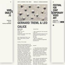 GERHARD TREML & LEO CALICE