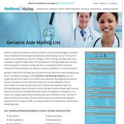 Geriatric Aide Email Addresses Database
