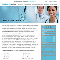 Geriatricians Mailing Addresses