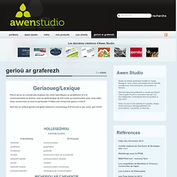 gerioù ar graferezh « Awen-Studio