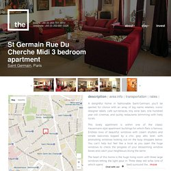 St Germain Rue Du Cherche Midi 3 bedroom apartment, Paris