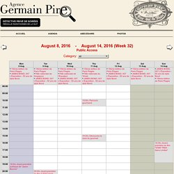 Germain Pire - Week from August 8, 2016 to August 14, 2016