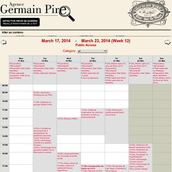 Germain Pire - Semaine du 17 mars 2014 au 23 mars 2014