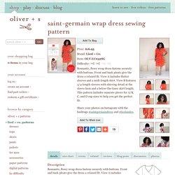 Saint-germain Wrap Dress Sewing Pattern