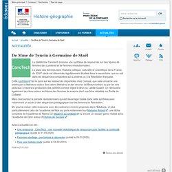 De Mme de Tencin à Germaine de Staël-Histoire-géographie-Éduscol