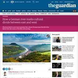 How a German river marks cultural divide between east and west