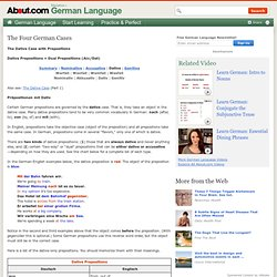German Dative Case with Prepositions - Dative and Dual Prepositions
