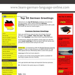 Top 50 German Greetings & Common Phrases with AUDIO