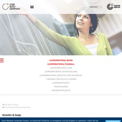 Step into German - Für Lehrer - Lehrermaterial Musik-Goethe-Institut