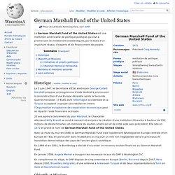 1972 German Marshall Fund of USA