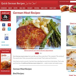 Quick German Recipes