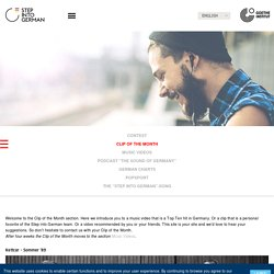Step into German - Music - Clip of the Month-Goethe-Institut