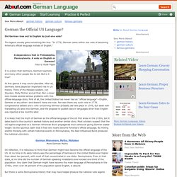 German the Official US Language?