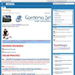 german vocab revision / FrontPage