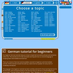 Free German tutorials online for beginners with audio