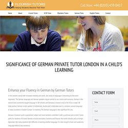 German Tutors, Private German Tuition, German Tutor London