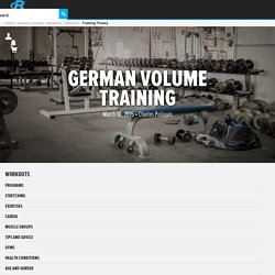 German Volume Training!
