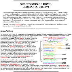 GERMANIA: Visigoths, Ostrogoths, Vandals, Vikings, Orkney, etc.