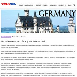 Study in Germany-Get to become a part of the quaint German Land