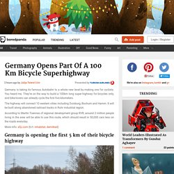 Germany Opens Part Of A 100 Km Bicycle Superhighway