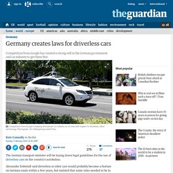 Germany creates laws for driverless cars
