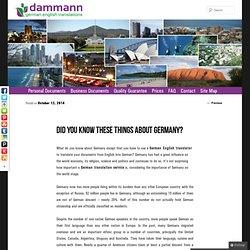 Blog - DAMMANN German English Translations
