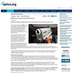 MBDA Germany demonstrates 40kW laser gun
